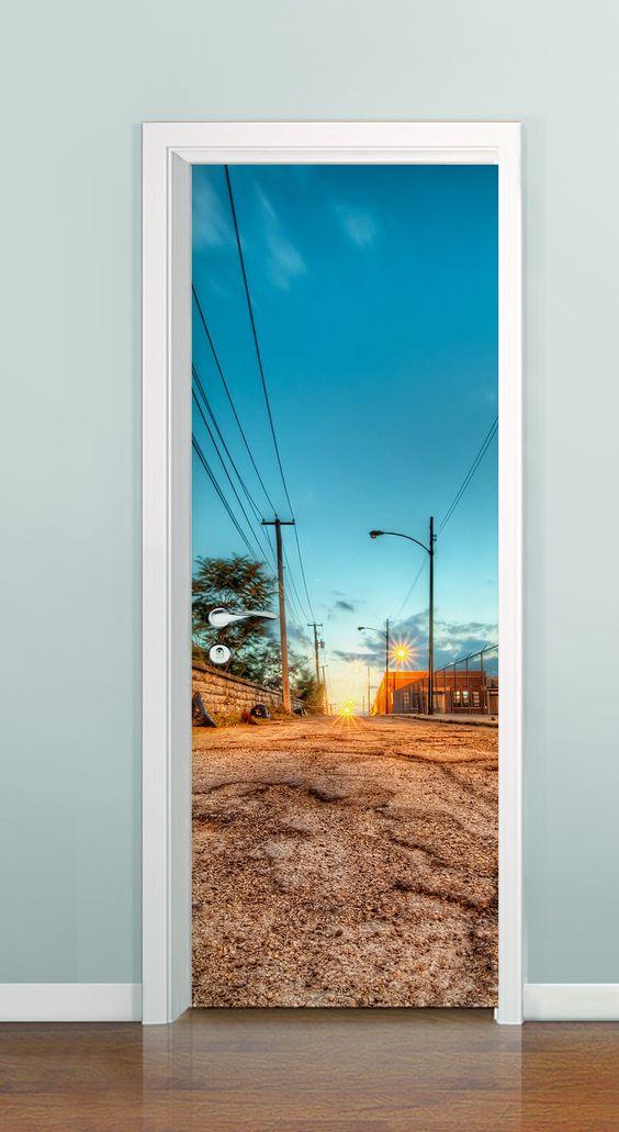 Porta com profundidade ( Rua de Terra 01) - à partir de R$ 99,00  *Solicite uma imagem para sua porta, criamos ela pra você!!!