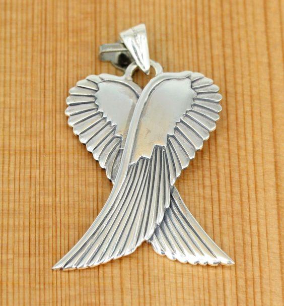 Anhänger Schmuck - 925 Silber  - Wings - Flügel -  Engelsflügel