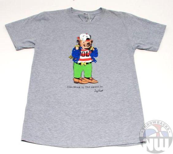 TI$A Bear by Taz Arnold T-Shirt By TI$A Grey New