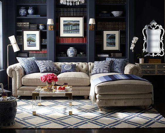Indigo Lattice Rug Love The Sofa With A Higher Back Misc