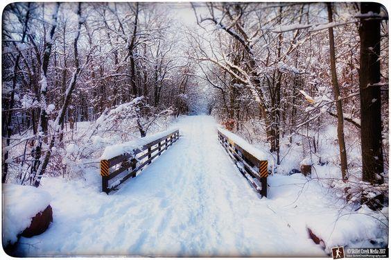 Steinke Basin Bridge in Winter