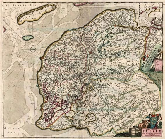 Map of friesland by f de wit with inset of the frisian islands map of friesland by f de wit with inset of the frisian islands sciox Gallery