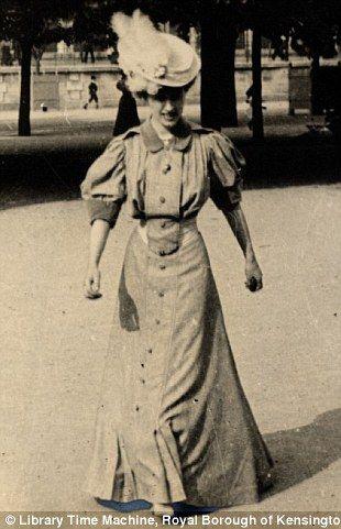 The photographer's friend Helene du Bois, Paris, June 4th 1906.