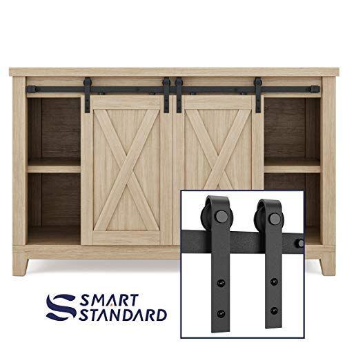 Smartstandard 4ft Super Mini Sliding Barn Door Hardware T Https Www Amazon Com Dp B07brkdwc3 In 2020 Sliding Barn Door Hardware Furniture Plans Sliding Barn Door