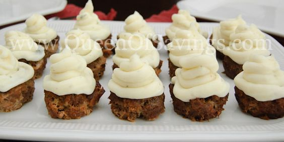 Meatloaf Cupcake with Mashed Potato Frosting!