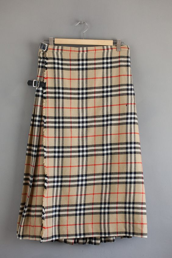 Vintage Burberry Plaid Skirt | Vintage Couture | Pinterest | Plaid ...