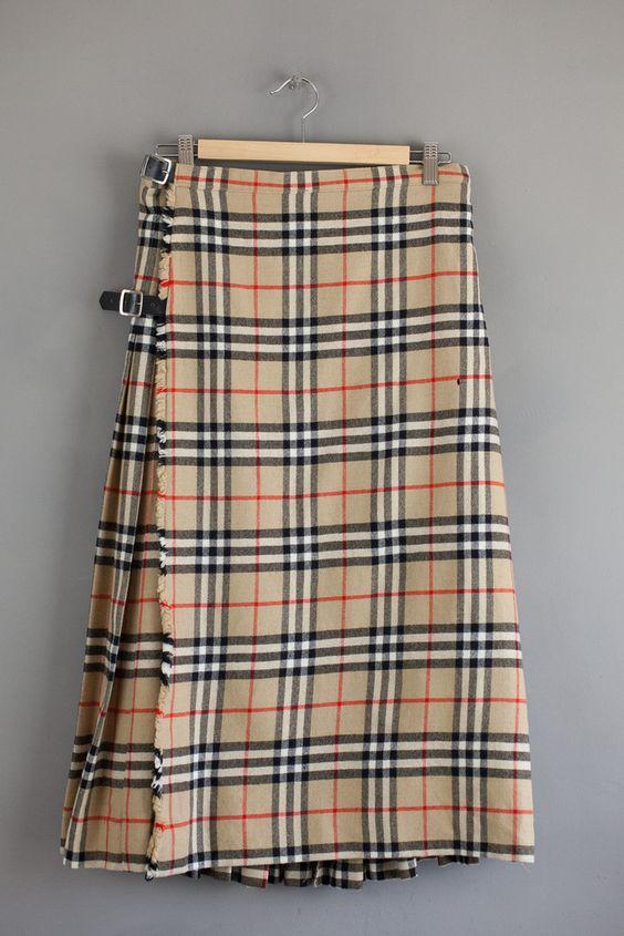 Vintage Burberry Plaid Skirt | Vintage Couture | Pinterest | Plaid ...