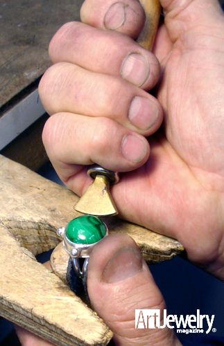 Prevent Wiggly Stones with Improved Bezel-roller Techniques.  Find more projects on ArtJewelryMag.com
