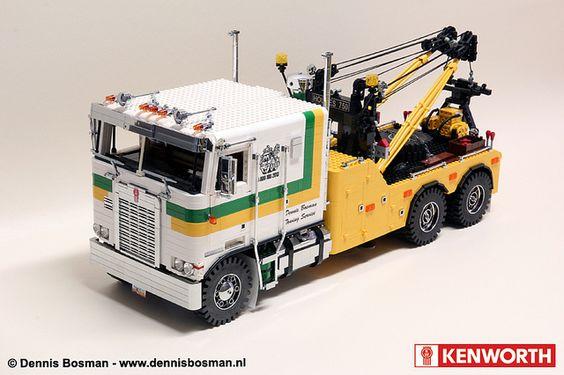 Kenworth K100 with Holmes 750 by legotrucks, via Flickr