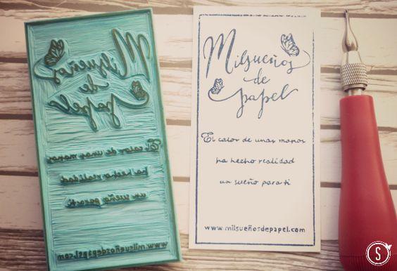 hand carver rubber stamp sello personalizado