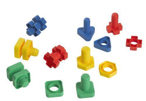 Edushape Ez-Grip Nuts and Bolts 48 Piece Development Toy