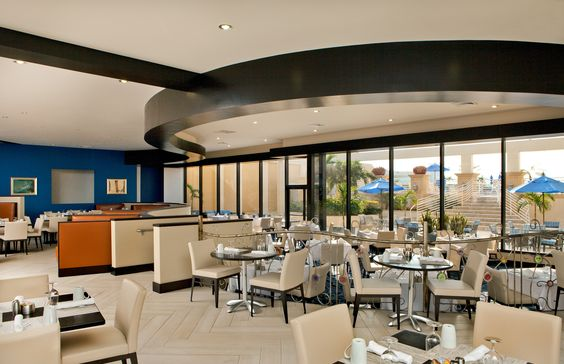 Modern, light and airy dining with a view at our Brisa Bistro.