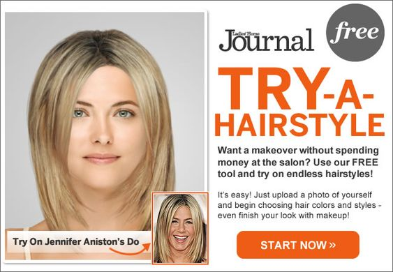 Try a hairstyle before cutting