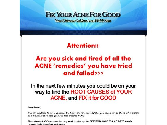 ① Fix Your Acne For Good 75% Commission - http://www.vnulab.be/lab-review/%e2%91%a0-fix-your-acne-for-good-75-commission