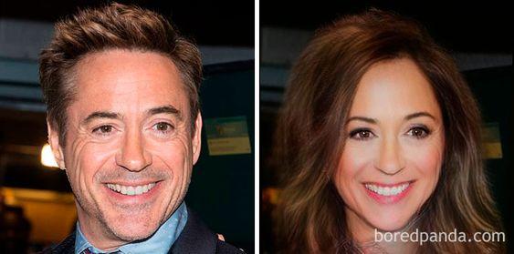 Gender-Swapped Snapchat Filter Robert Downey Jr.