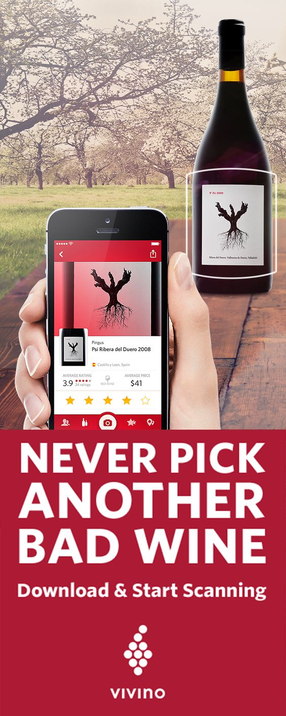 Stop Drinking Bad Wine Start Using The Vivino App Scan Any Wine Label Or Wine List And Instantly Find Ratings Reviews Prices A Drinks Cocktail Drinks Wine