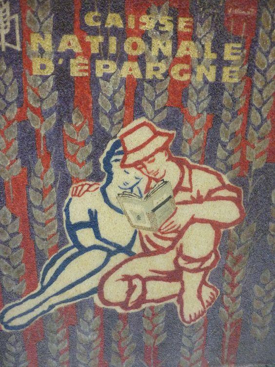 Décor publicitaire pour la caisse nationale d'épargne Enseigne 1962 © L'Adresse Musée de La Poste / La Poste, DR