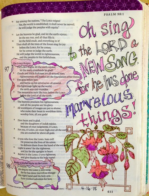 Vintage Grace: Bible Marginalia-He has done marvelous Things!