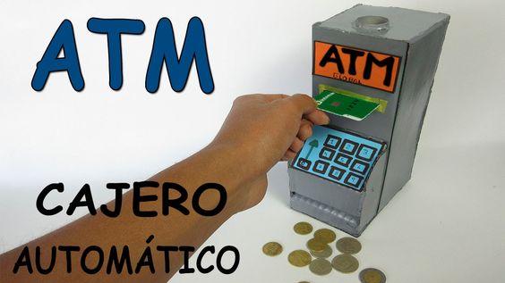 Como Hacer Un Cajero Automático Casero De Cartón-Banco Para Niños ATM Ju...
