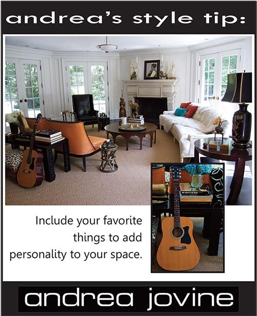 Add your personality to the room. #styletip #interiors #musiclover  #andreajovine @andreajovine www.andreajovinedesign.com