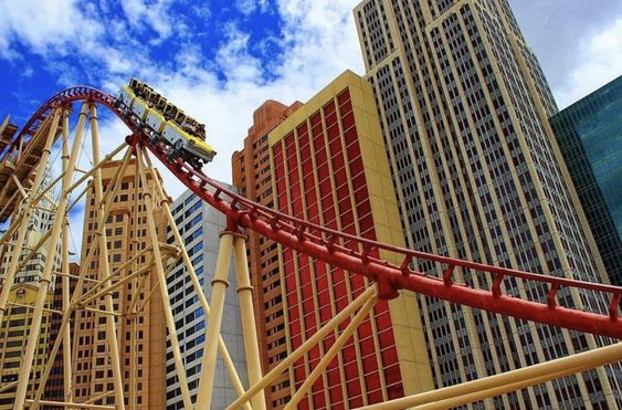 The Big Apple Coaster Is Sure To Cool You Off This Summer In Las Vegas Top Things To Do In Las Ve Las Vegas With Kids Las Vegas Hotels Las Vegas Hotel Deals