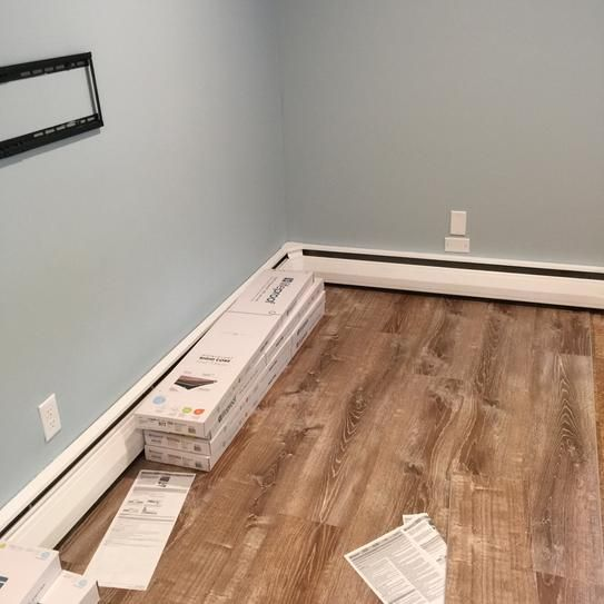Woodacres Oak Basement Design Luxury Vinyl Plank Flooring Basement Remodeling