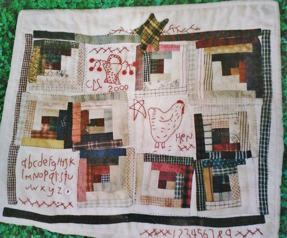 'Little Red Hen Red Work'.   This cute quilt will be the class project for Julie's next Monday's Best Class. We hope you can join us for food, fun, friends & after hour only SALES... The Little Red Hen class is Monday evening July 16th from 6:00pm 'til 9:00pm. Give us a call or stop by the shop to sign up for class ;-)