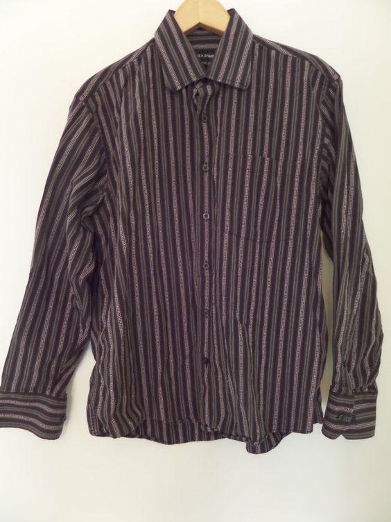 LINE A DOME Men's Shirts Size-M 15.5/16 100% Cotton  Nice! #LINEADOME #ButtonFront