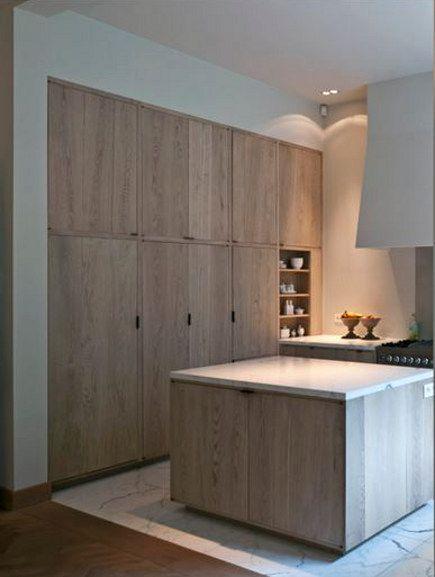 minimalist limed oak kitchen cabinets by AIDArchitecten: {Belgian Style Home Decor Inspiration} 20 Belgian Kitchens to Inspire!