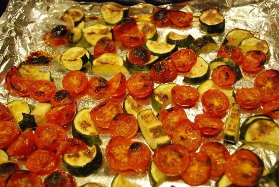 Tomatoes and Zucchini Recipe - 0 Points | Zucchini, Roasted tomatoes ...