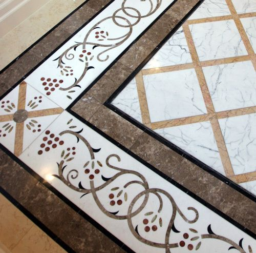 Inlay Work Marble Flooring In Dubai Marble Floor