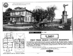 Searching for the house plans for your American Foursquare style home? They just might be part of this group of Sears and Aladdin catalog favorites.: Sears Catalog Modern Home No. C189, The Hillrose
