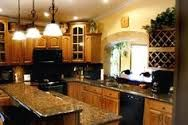 what color counter goes with wood cabinets - Google Search