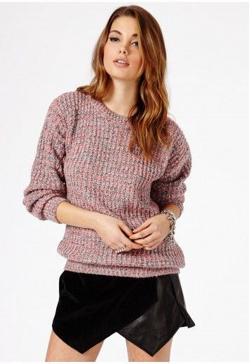 Missguided - Tetrine Knitted Mix Jumper In Multi