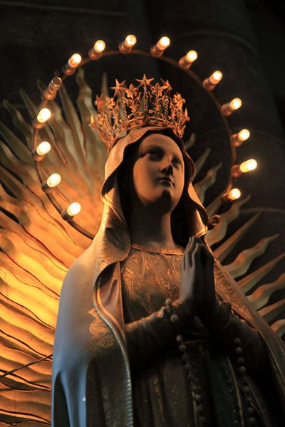 Blessed Virgin Mary / Statue / Shrine / Catholic / Guadalupe / holy mary mother )