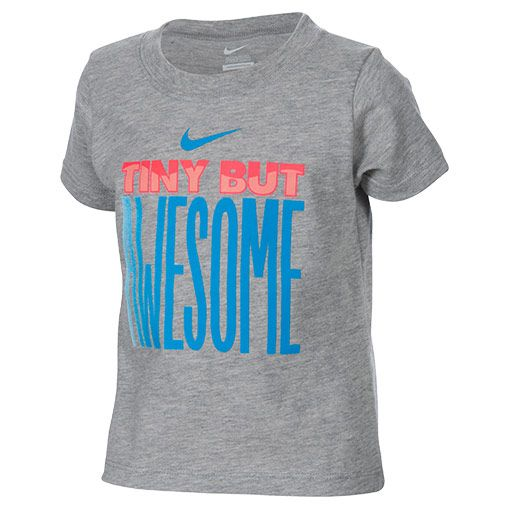 Infant Nike Tiny But Awesome T-Shirt - 663045 GRR | Finish Line