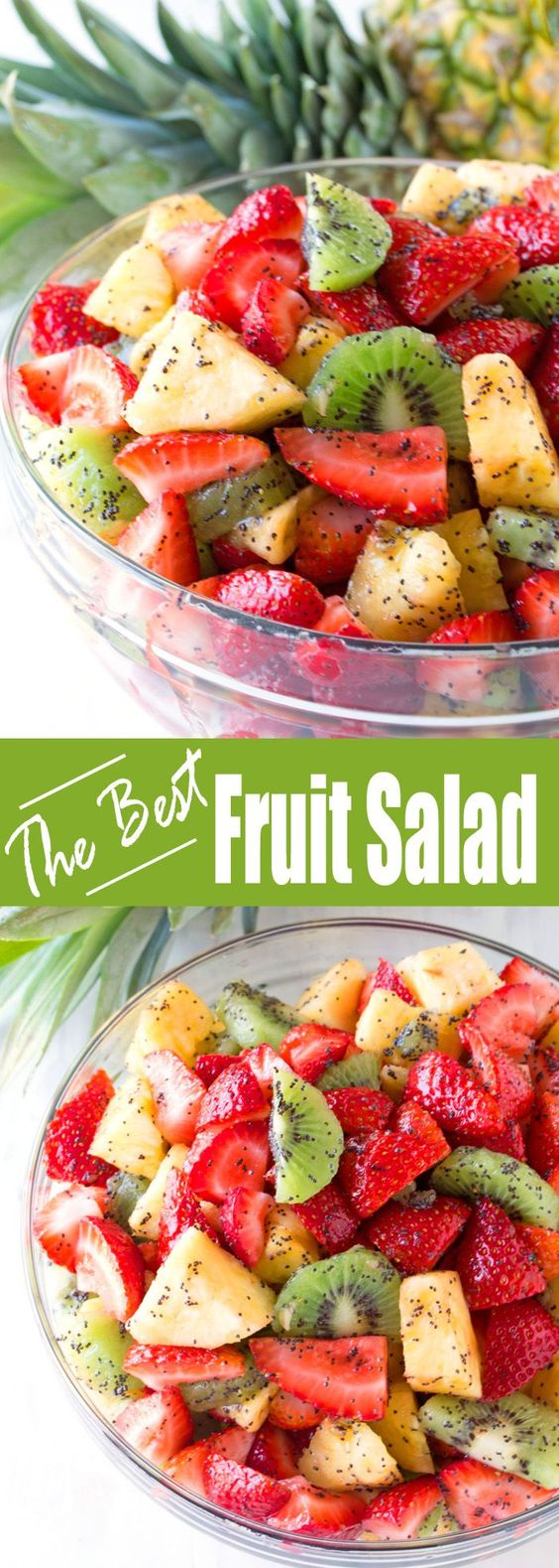 Triple Fruit Salad with Lemon-Poppy Seed Dressing