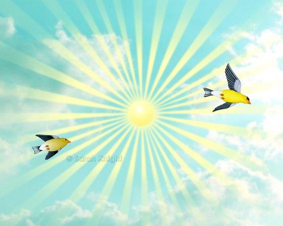 Sunshine skies - 8X10 inch signed art print by Sarah Knight | SunshineSight - Print on ArtFire