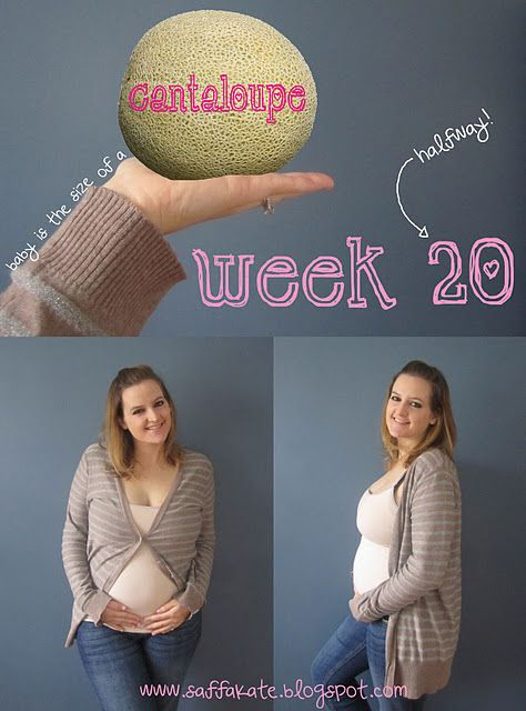 Week 20, cute idea to document size of baby during pregnancy ...