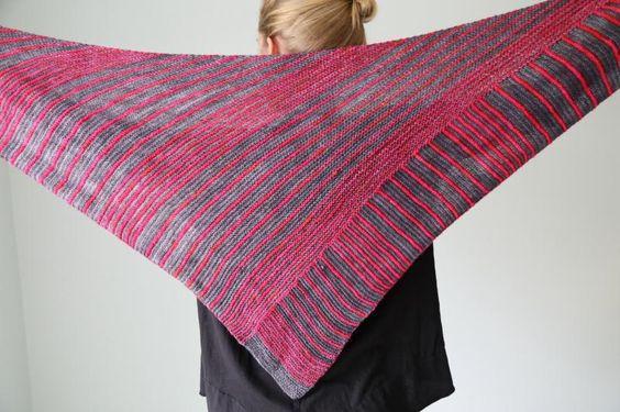 (6) Name: 'Knitting : Itineris Shawl