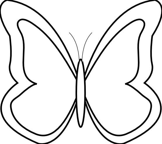 Butterfly Clipart Black And White Butterfly Black And White Butterfly Clip Art Butterfly Line Drawing