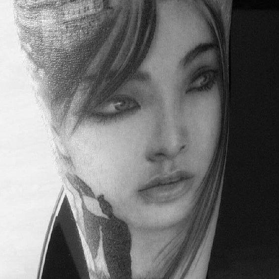 #tattoo #inkedbabe #tatoist #gueisha @davepaulo_tattooartist