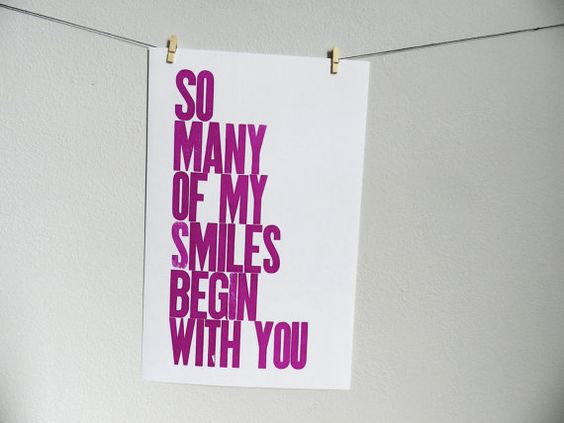 Purple Typography Poster So Many of My Smiles by happydeliveries