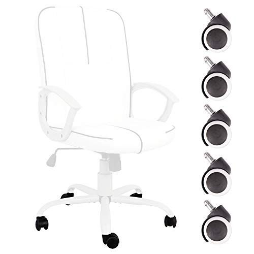 Ergonomic Office Chair Wheels Executive Bonded Leather Computer