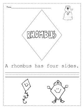 free worksheets rhombus worksheet free math worksheets for kidergarten and preschool children. Black Bedroom Furniture Sets. Home Design Ideas