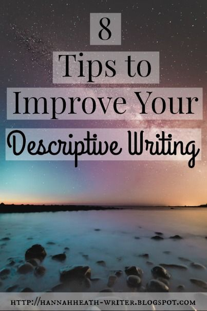 Descriptive writing. It's important. It's how your readers can picture where events are taking place, it's the mode of writing that allows...