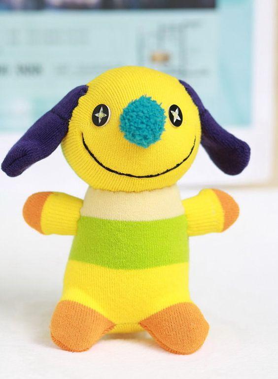 Handmade stuffed animal toys soft dolls sock dolls by hellykary, $10.50