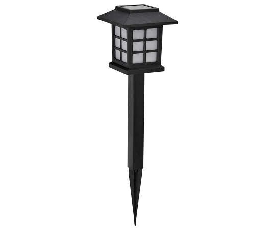 Wilson Fisher Black Lantern Led Solar 10 Piece Pathway Light Set Pathway Lighting Solar Pathway Lights Outdoor Solar Lights
