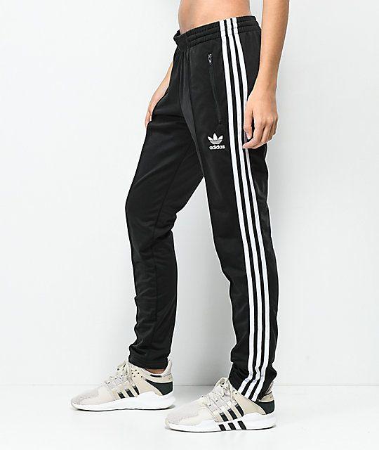 Adidas 3 Stripe Black Track Pants Zumiez In 2020 Adidas Track Pants Matching Couple Outfits Stylish Pants