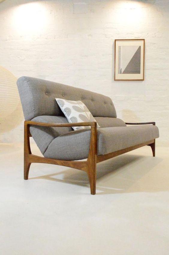 MID CENTURY MODERN G PLAN ROSEWOOD DANISH SOFA VINTAGE 50s 60s - designer couch modelle komfort